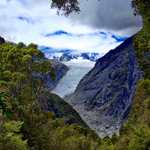 """Fox Glacier"" stock image"