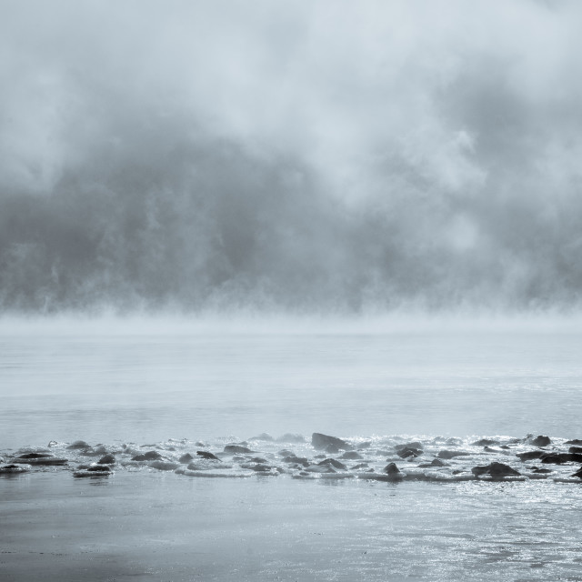 """Atmospheric lake"" stock image"