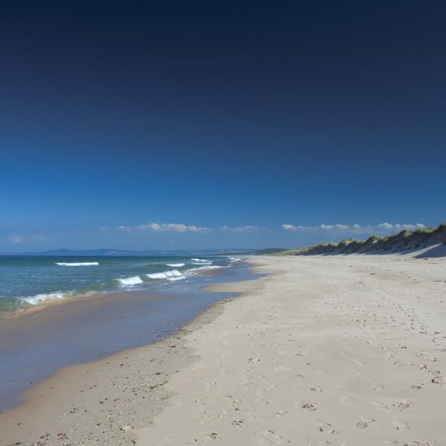 """Lossiemouth Beach"" stock image"