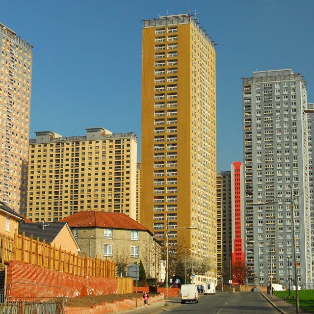 """Red Road Flats"" stock image"