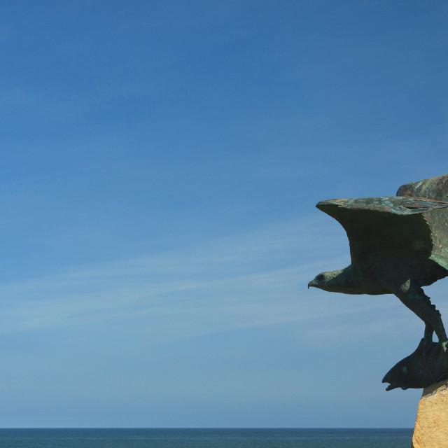 """Osprey Sculpture"" stock image"