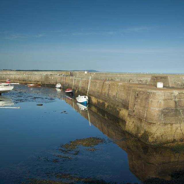 """Portgordon Harbour"" stock image"