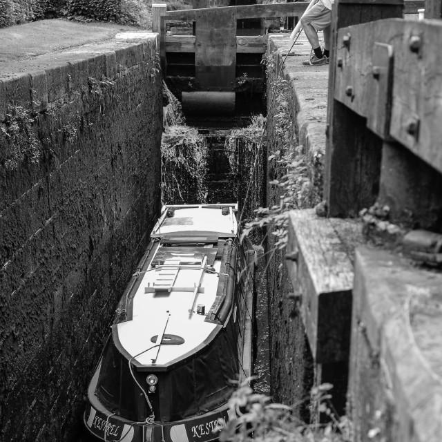 """""""Barge Man"""" stock image"""