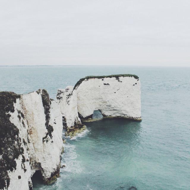 """Old Harry Rocks / Dorset"" stock image"