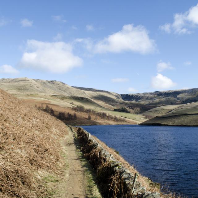 """""""Kinder Reservoir Walk"""" stock image"""