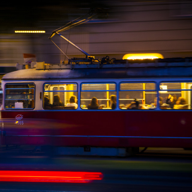 """Tram in Ringstrasse"" stock image"