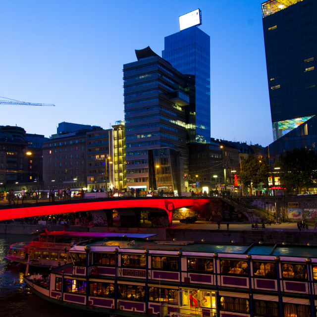 """Danube canal in Vienna"" stock image"