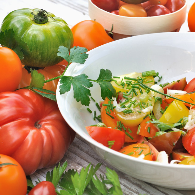"""tomatoes salad"" stock image"