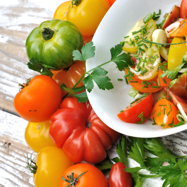 """fresh tomatoes salad"" stock image"