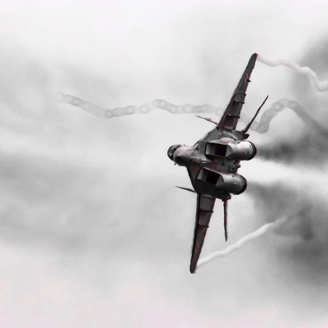 """""""MiG-29 Fulcrum"""" stock image"""