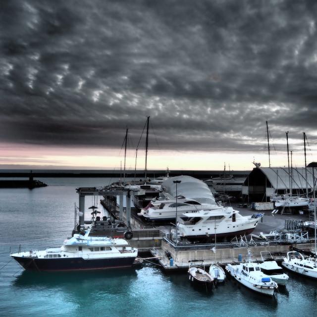 """Porto di Genova"" stock image"