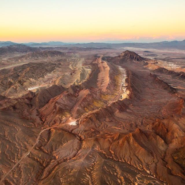 """""""Nevada Sunset"""" stock image"""