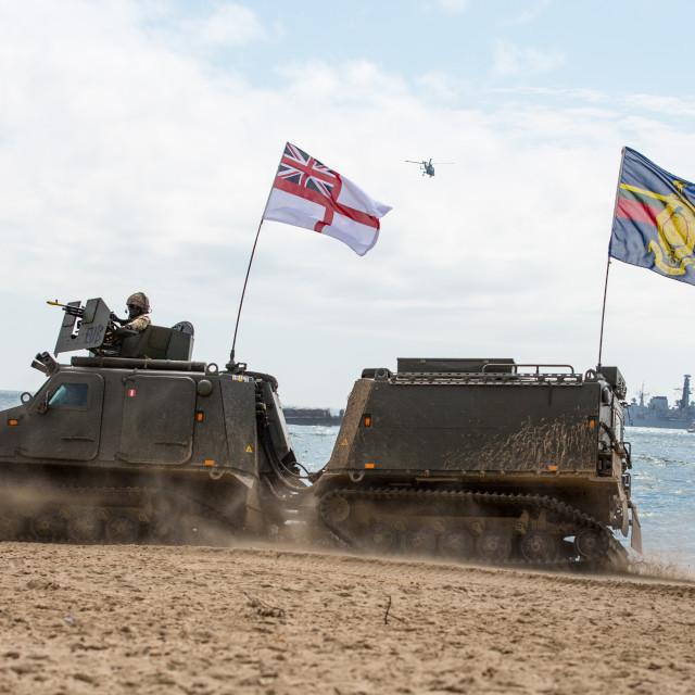 """Royal Marines Beach Assault"" stock image"