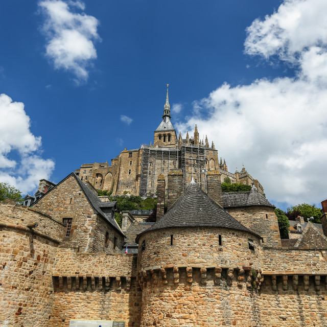 """The fortress Mont Saint Michel - France"" stock image"