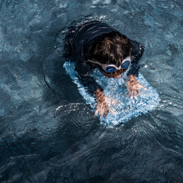 """Swimming lesson"" stock image"