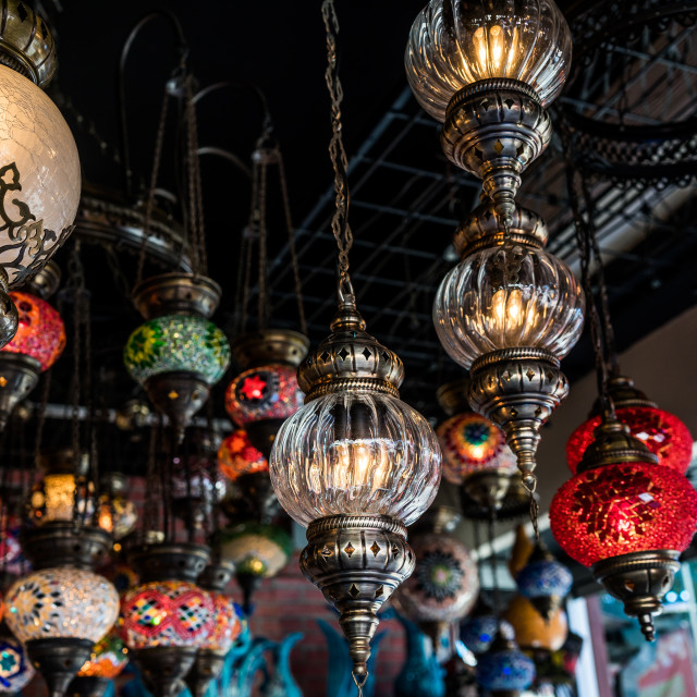 """Selection of lamps"" stock image"