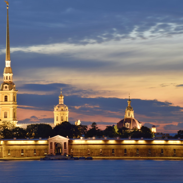 """Peter and Paul Fortress"" stock image"