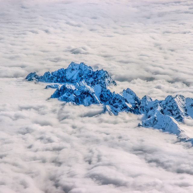 """Alps Over the Clouds"" stock image"