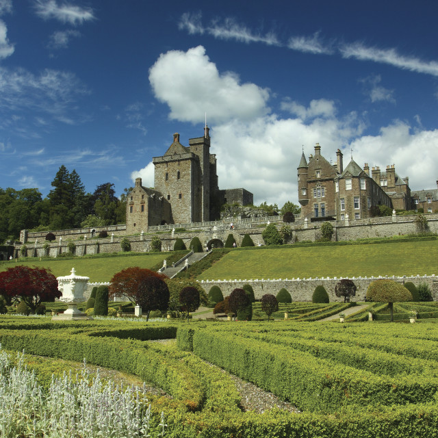 """Drummond Castle"" stock image"