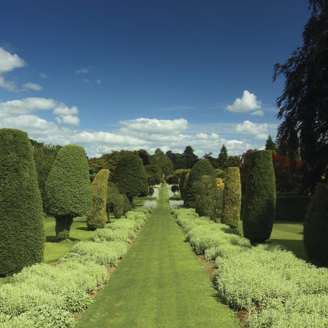 """Drummond Castle Gardens"" stock image"