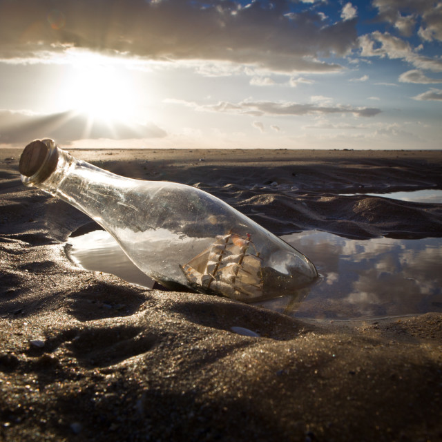 """""""Ship in a Bottle"""" stock image"""