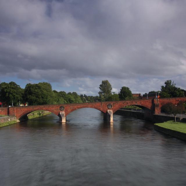 """St Michael's Street Bridge"" stock image"