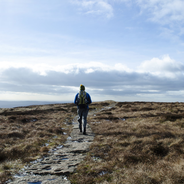 """""""Kinder Scout Path"""" stock image"""