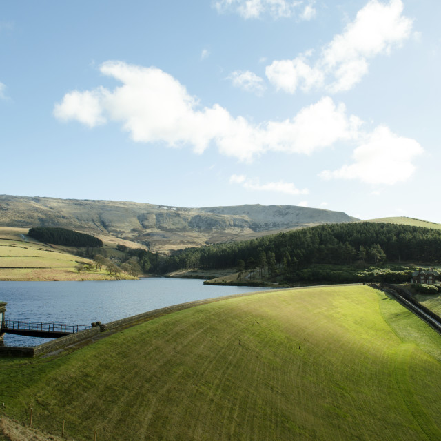 """Kinder Reservoir Curve"" stock image"