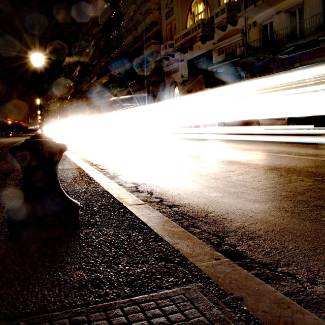"""speed in the night"" stock image"