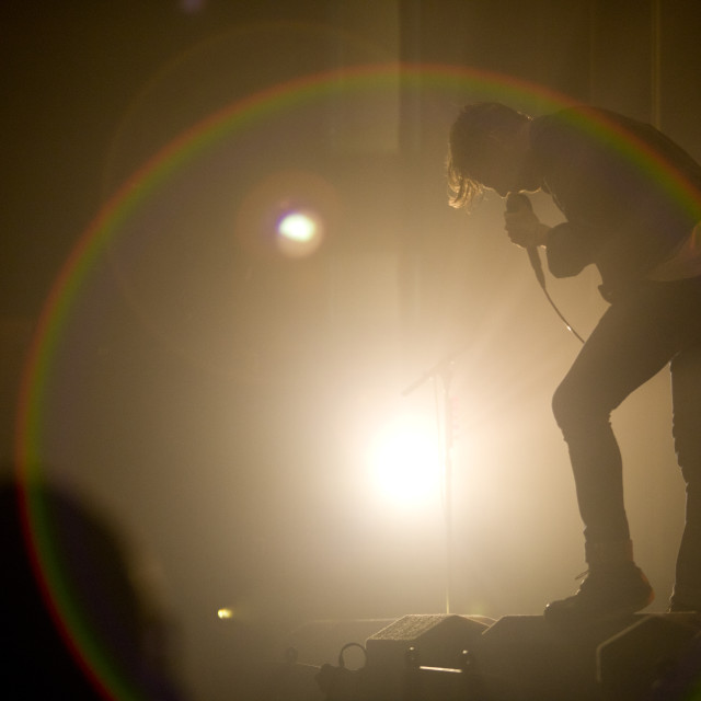 """""""Kaiser Chiefs live onstage"""" stock image"""