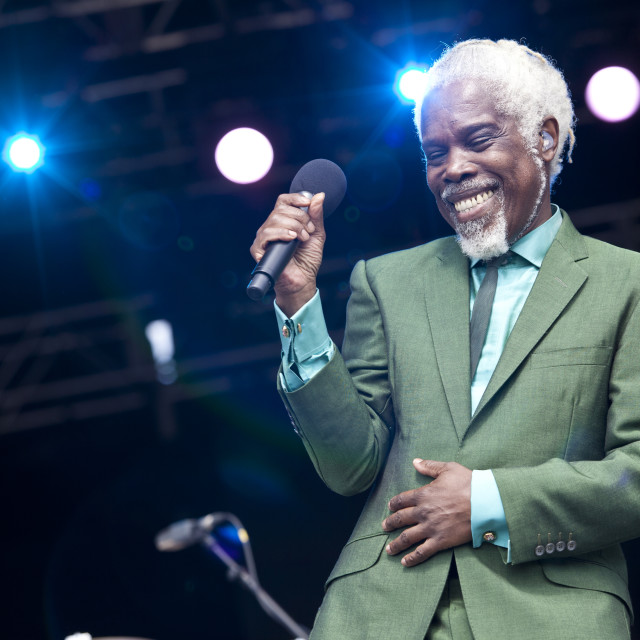 """Billy Ocean live onstage"" stock image"