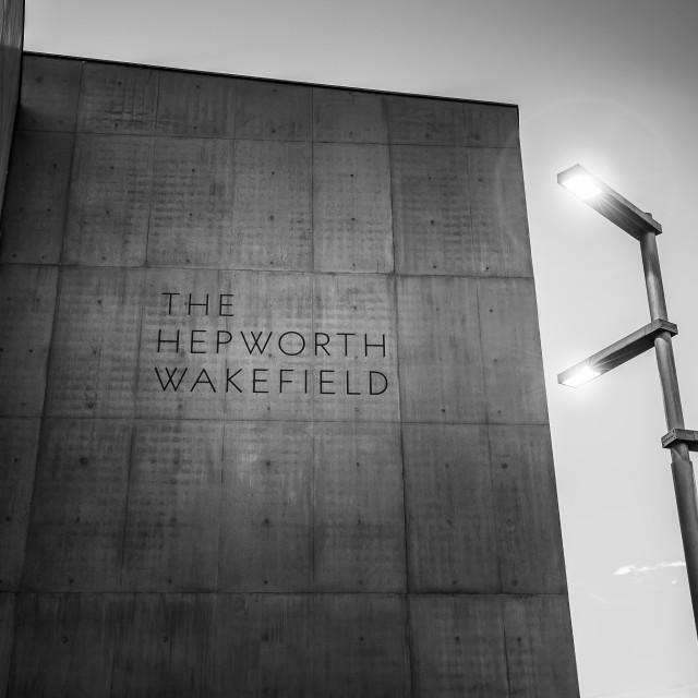 """The Hepworth Gallery"" stock image"