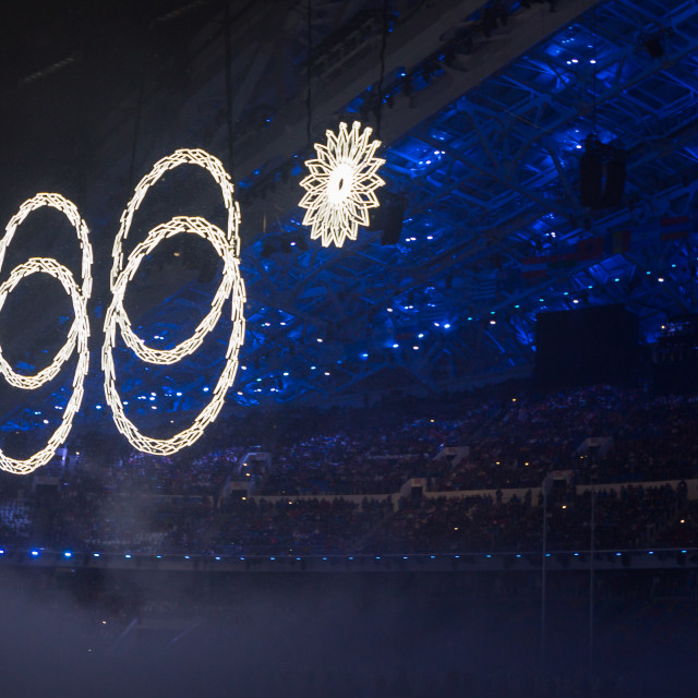 """Sochi 2014 Olympic Games opening ceremony"" stock image"