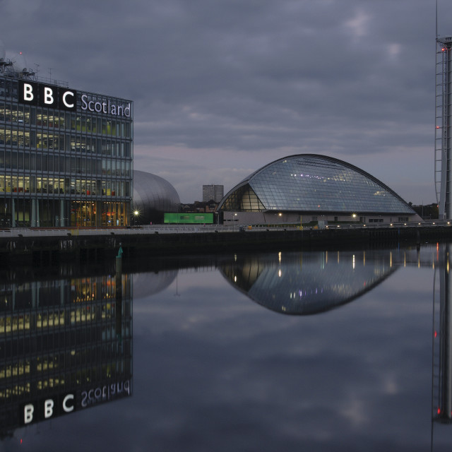 """BBC and Science Centre"" stock image"