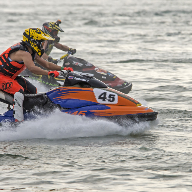"""Thai Jet Ski World Cup (Heats) Dec 2015 a"" stock image"
