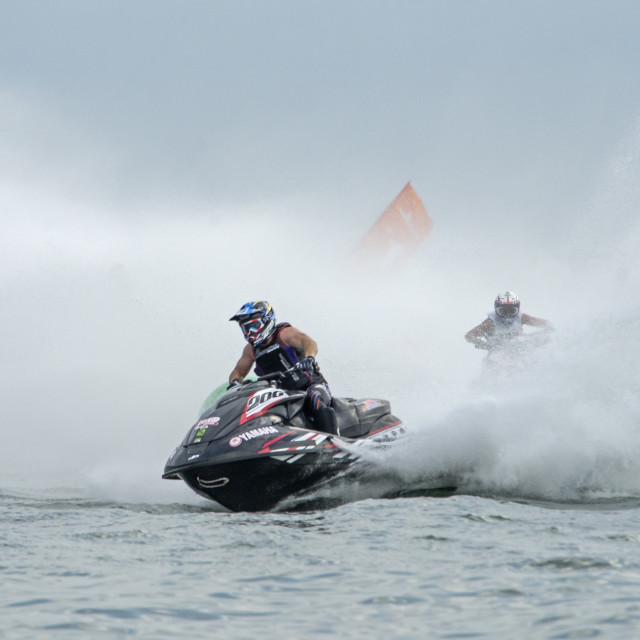 """Thai Jet Ski World Cup Heats Dec 2015"" stock image"
