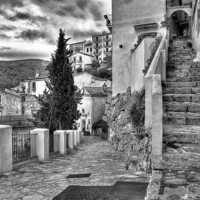 """Characteristic of Sperlonga alleys"" stock image"