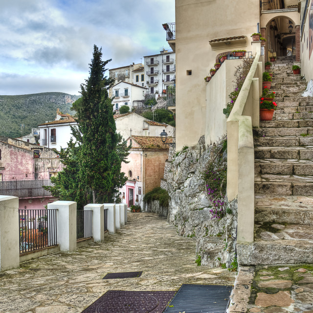 """Tipical of Sperlonga alleys"" stock image"