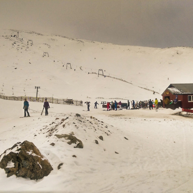 """""""Glencoe Ski Centre"""" stock image"""
