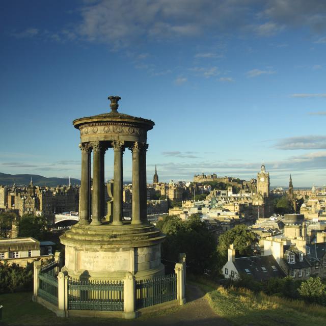 """Edinburgh from Calton Hill"" stock image"