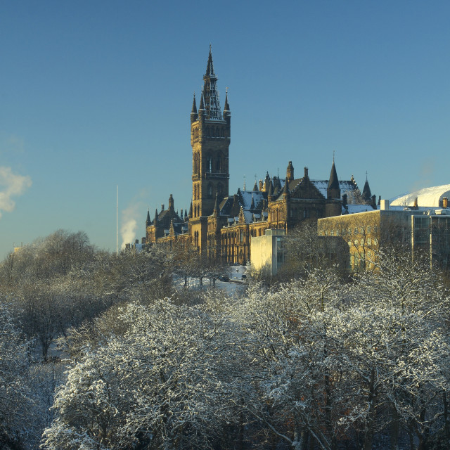 """Kelvingrove Park and Glasgow University"" stock image"