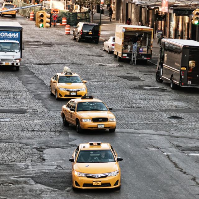 """Traffic in Manhattan"" stock image"