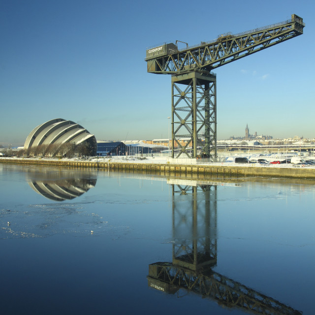 """The SECC and Finnieston Crane"" stock image"