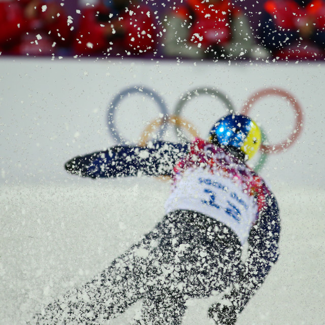 """Freestyle Skiing. Men's Aerials Final"" stock image"