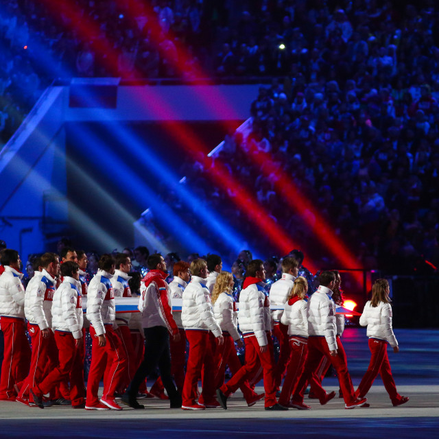"""Sochi 2014 Olympic Games closing ceremony"" stock image"