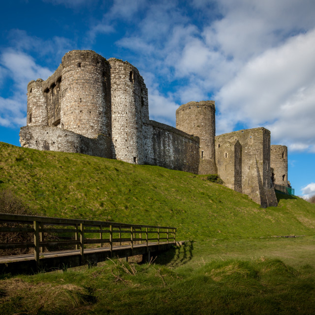 """Kidwelly Castle South Wales"" stock image"