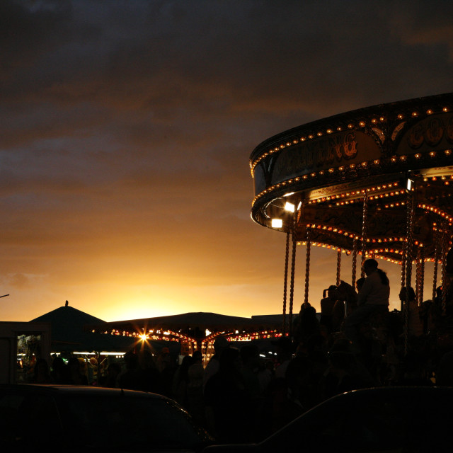 """Carousel at Dusk"" stock image"