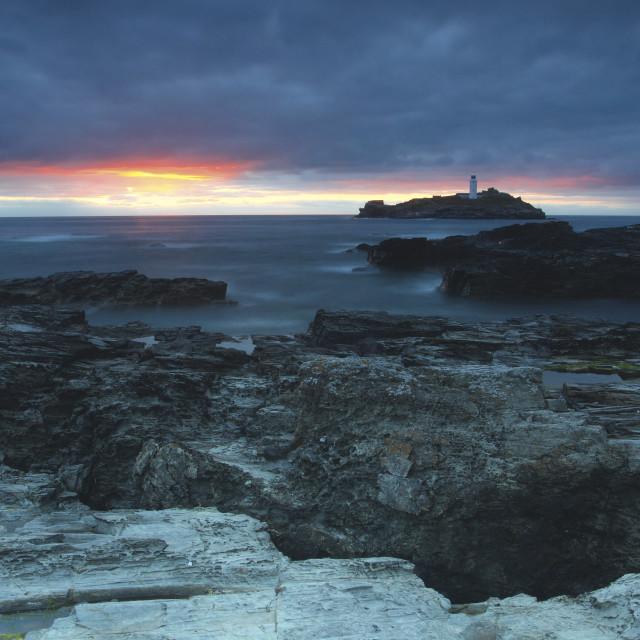 """""""Godrevy Lighthouse"""" stock image"""