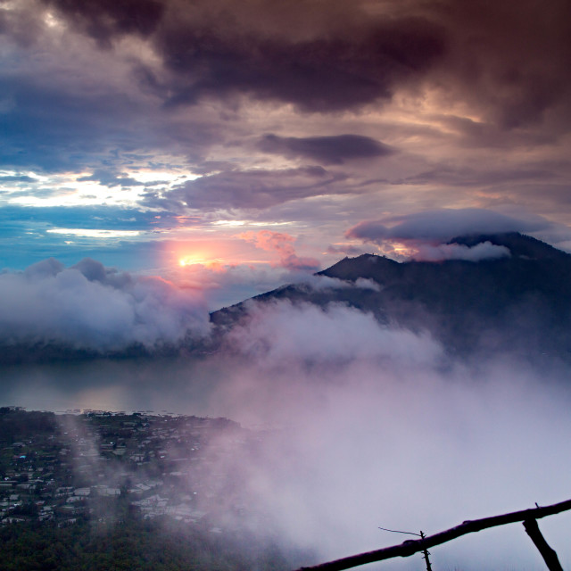 """""""View from Mount Batur"""" stock image"""