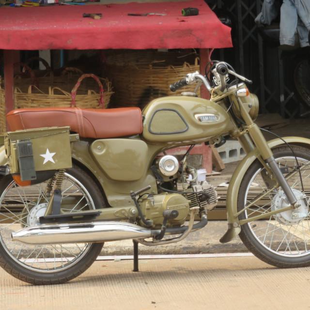 """Classic motorbike"" stock image"